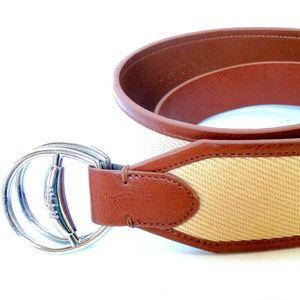 Ralph Lauren Belt Wide Sz. M Double Ring